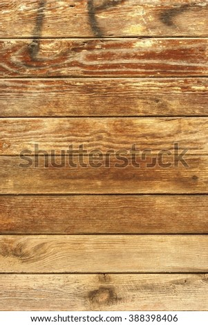 Old wooden wall peeling paint surface - stock photo