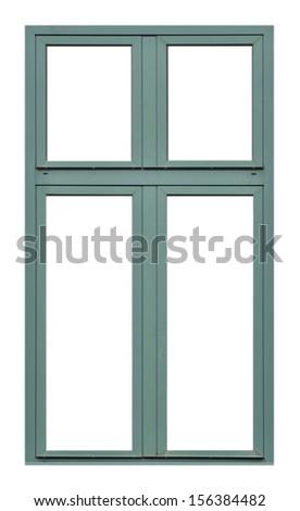 Old wooden window  - stock photo