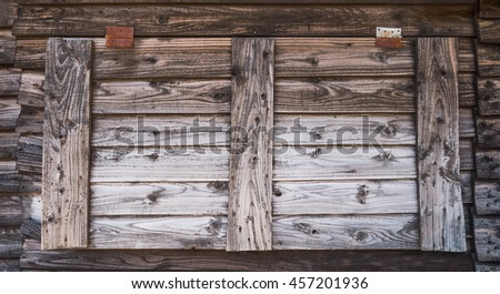 Old wooden window of rural house
