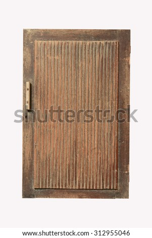 Old wooden window on white background.