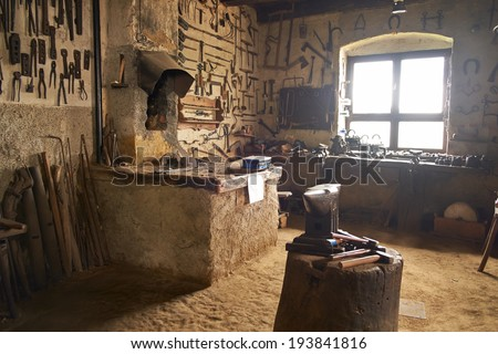 Old workshop - stock photo