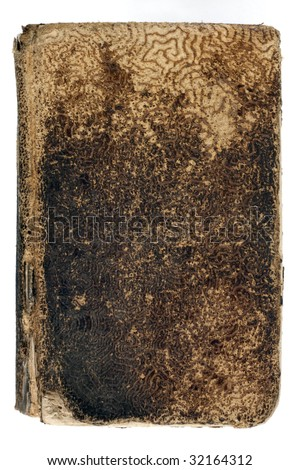old worn book, isolated on white - stock photo