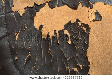 Old worn leather - stock photo