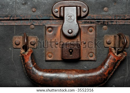 Old worn out case with rusted look to it. - stock photo