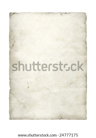 Old Worn Paper - stock photo
