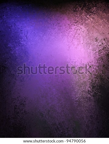old worn royal purple grunge background and dark black vignette border on frame with vintage  grunge texture and  copy space for ad or text - stock photo