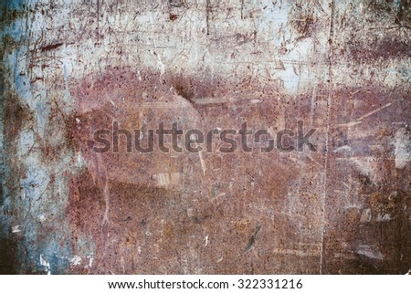 Old worn rusty texture wall - stock photo