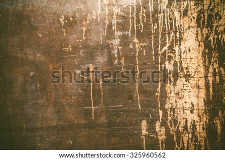 Old worn rusty texture with dripping paint - stock photo