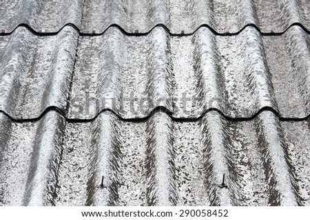 old worn shingle roof pattern - stock photo