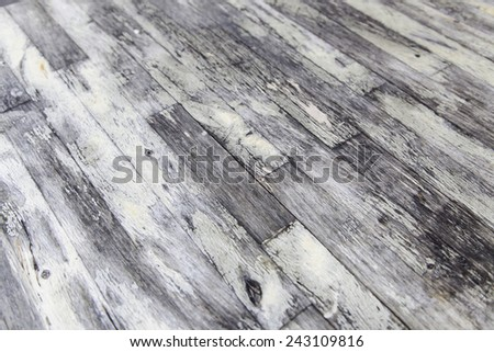 Old worn wooden background detail gray wood, ruin and abandonment, texture - stock photo