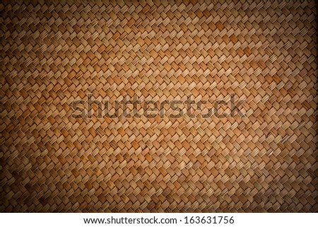 Old woven wood pattern - lomo  - stock photo