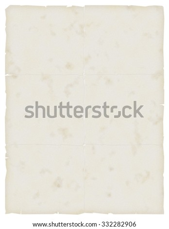 Old wrinkled paper. Use as background. - stock photo