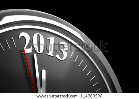 Old Years and 2013 (computer generated image) - stock photo