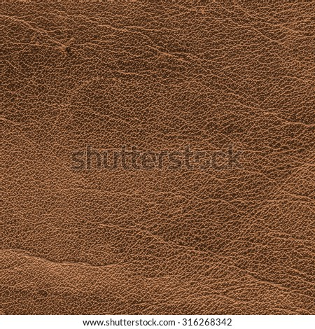 old yellow-brown scratched leather texture. Can be used as background for Your design-works - stock photo