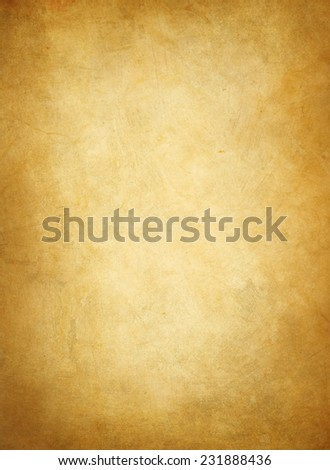 old yellow  paper texture or background with dark vignette borders - stock photo