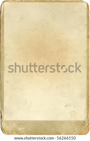 old yellow textured photo paper with a frame - stock photo