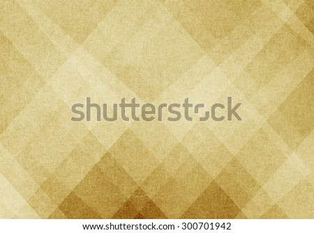 old yellowed paper with abstract design, vintage old beige and brown background design, neutral colors, triangle and diamond shapes with angled lines in abstract pattern layers - stock photo