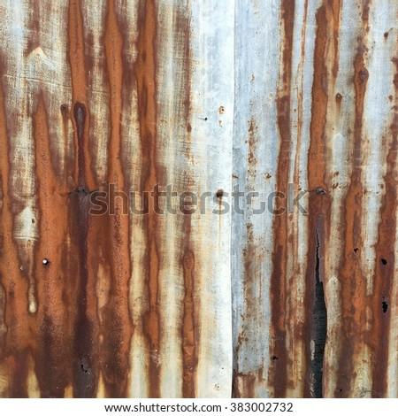 Galvanixe Iron Rust Stain Oxidation Humidity Stock Photo