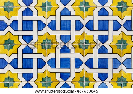 oldazulejos - hand painted tiles from Lisbon, Portugal, blue and yellow