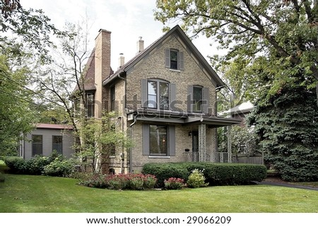 Older brick home - stock photo