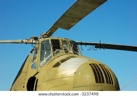 Older Russian Helicopter Mi-4 Hound - stock photo