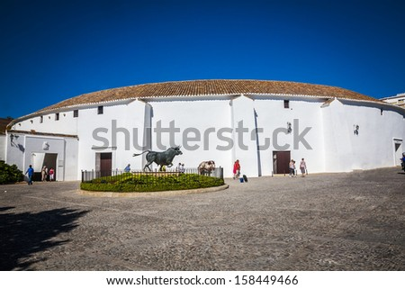 Oldest Bullring (Plaza de Toros) of Spain in Ronda, Andalusia