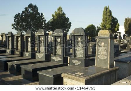 Oldest jewish cemetery,Moises Ville,Argentina - stock photo