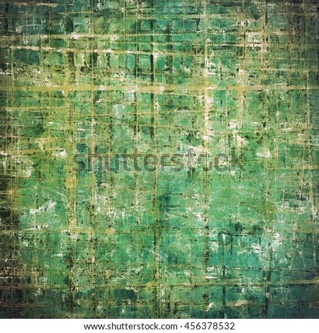 Oldest vintage background in grunge style. Ancient texture with different color patterns: yellow (beige); brown; gray; green; blue; cyan - stock photo