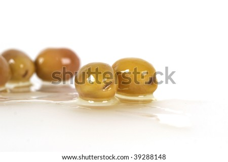 olive background - stock photo