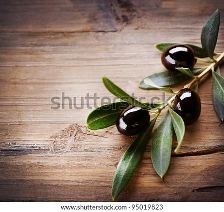Olive Background - stock photo