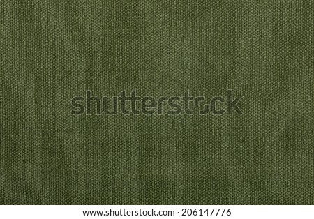 Olive green cotton texture  - stock photo