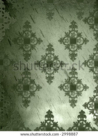 olive green hued gothic medieval diamond background grunge page - stock photo