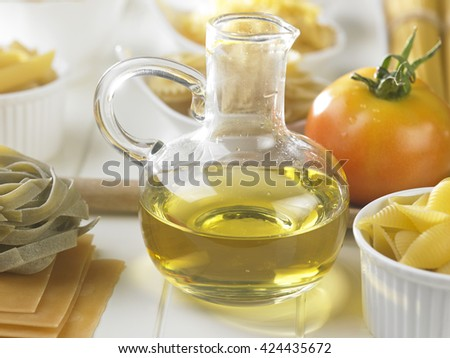 olive oil and other ingredient for pasta