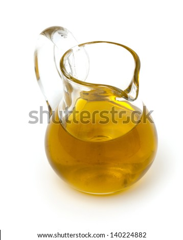 olive oil in a pitcher - stock photo