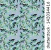 Olive Seamless Pattern - stock photo