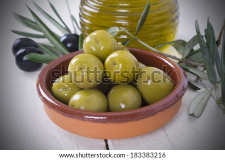 olives on background