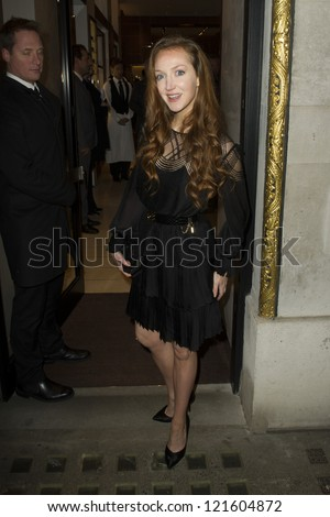 Olivia Grant arriving for the Salvatore Ferragamo London Flagship Store Launch Party, Old Bond Street,  London. 05/12/2012 Picture by: Simon Burchell