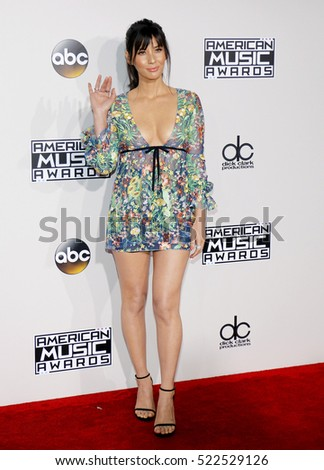 Olivia Munn at the 2016 American Music Awards held at the Microsoft Theater in Los Angeles, USA on November 20, 2016.