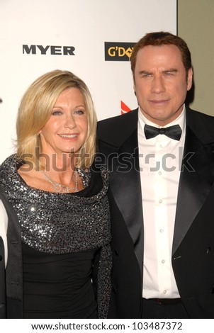 Olivia Newton-John and John Travolta at the G'Day USA Australia Week 2010 Black Tie Gala, Kodak Theater, Hollywood, CA. 01-16-10 - stock photo