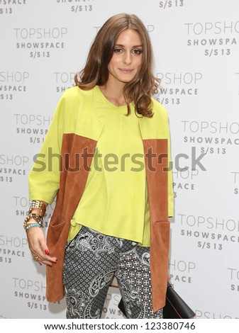 Olivia Palermo arriving at the Unique catwalk show as part of London Fashion Week SS13, Top Shop Venue, Bedford Square, London. 16/09/2012 Picture by: Henry Harris - stock photo