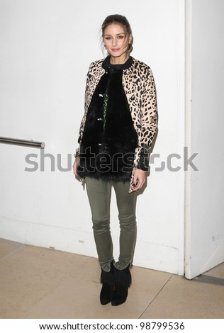Olivia Palermo arriving for  Matthew Williamson A/W, at London Fashion Week. 19/02/2012 Picture by: Henry Harris / Featureflash - stock photo