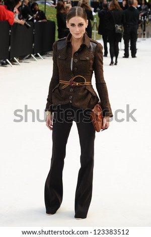 Olivia Palermo arriving for the Burberry Prorsum catwalk show as part of London Fashion Week SS13, Kensington Gardens, London. 17/09/2012 Picture by: Steve Vas - stock photo