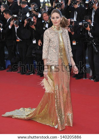 """Olivia Palermo at the premiere of """"The Immigrant"""" at the 66th Festival de Cannes. May 23, 2013  Cannes, France - stock photo"""