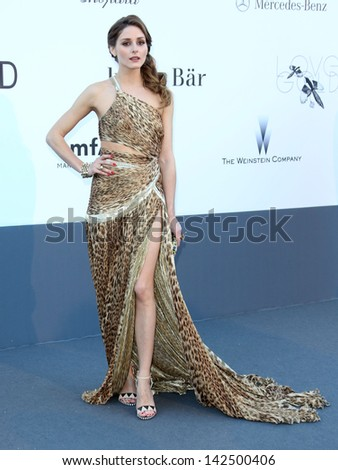 Olivia Palermo at the 66th Cannes Film Festival - amfAR's 20th Annual Cinema Against AIDS - Arrivals, Cannes, France. 23/05/2013 - stock photo