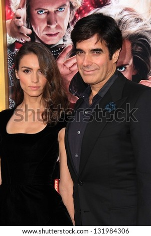 "Olivia Wilde and David Copperfield at the World Premiere of ""The Incredible Burt Wonderstone"" Chinese Theater, Hollywood, CA 03-11-13"