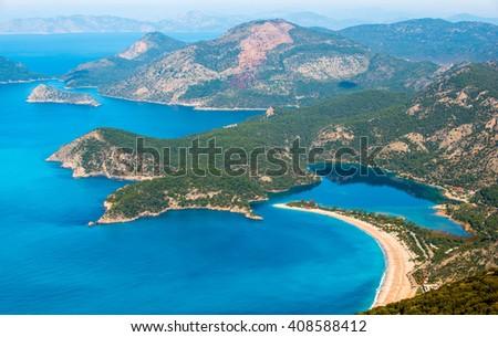 Oludeniz. Blue Lagoon in Turkey - stock photo
