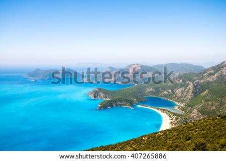 Oludeniz. Blue Lagoon in Turkey. Rest in Turkey - stock photo