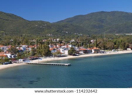 Olympiada resort at Chalkidiki in Greece - stock photo