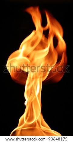 Olympic flame - stock photo