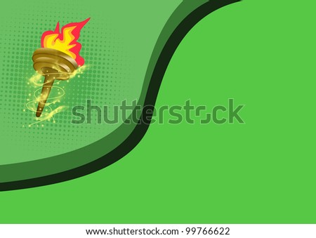 Olympic flame background with space (poster, web, leaflet, magazine)